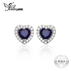 >> Click to Buy << JewelryPalace Heart Of The Ocean 1.2ct Created Blue Sapphire 925 Sterling Silver Stud Earrings Fine Jewelry for Women #Affiliate