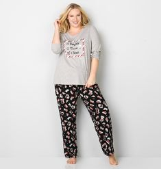 7dff766a3f2 New year eve pajamas for plus size women Adult Christmas Pajamas
