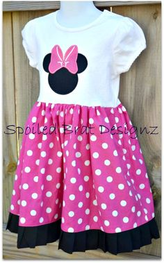 Minnie Mouse 4T TShirt Dress by spoiledbratdesignz on Etsy, $30.00