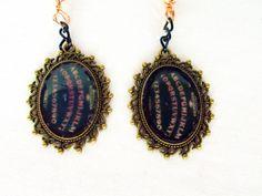 Ouija Board Earrings  Goth Jewelry  Victorian by RainsWonderland