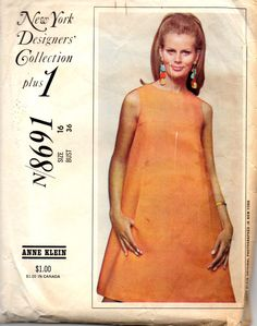 McCalls 8486 1960s Misses Dress Pattern Three Versions by mbchills