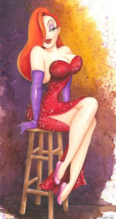"""""""Roger's Girl"""" by Michelle St. Laurent - Original Watercolor on Paper, 28.5 x 15."""