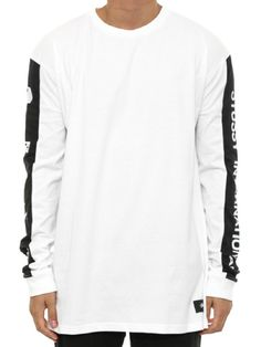 Stussy Panel Regular Longsleeve Tee in White – West Brothers #Stussy #Longsleeve #Fashion