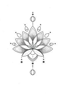 Time Tattoos, Body Art Tattoos, Small Tattoos, Tattoo Drawings, Lotus Tattoo Design, Tattoo Designs, Tattoo Mandala Feminina, Buddhism Tattoo, Mandela Tattoo