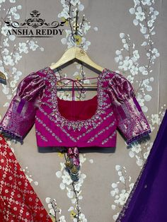 New Saree Blouse Designs, Saree Designs Party Wear, Blouse Styles, Embroidery Works, Beaded Embroidery, Hand Embroidery, Fashion Terms, Indian Blouse, Half Saree
