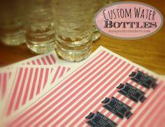 water bottlesmssneakersblog201, birthday parti, girl birthday, first birthdays, bottl label