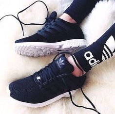 adidas, shoes, and black image Adidas Women's Shoes - amzn.to/2hIDmJZ ADIDAS Women's Shoes Running - amzn.to/2ik27fE