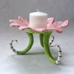 pink rose ceramic dish for a special Mom by maryjudy on Etsy, $46.00
