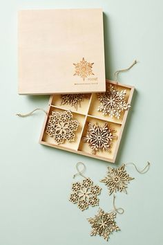 these santa lucia snowflakes would be great to tie dinner napkins with and then everyone leaves thanksgiving dinner with a holiday ornament. anthropologie.com has inspired me to create a new family tradition! #Anthropologie #PinToWin