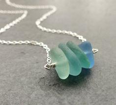 Meer Glas Halskette echten Strand Glas von estherdobsonart auf Etsy