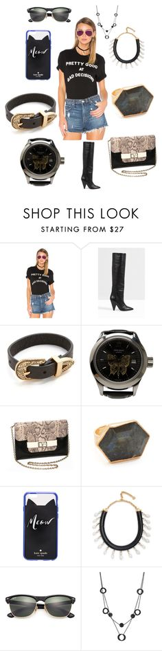 """Let's Rock"" by yagna ❤ liked on Polyvore featuring Wildfox, Isabel Marant, B-Low the Belt, John Isaac, Diane Von Furstenberg, NAKAMOL, Kate Spade, Shourouk, Ray-Ban and Alexa Starr"