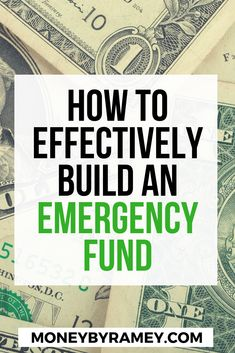 So you are finally making some real money and finally have some income left over. What should you do with it? The list is surely long, but one of the first things you should look to do is create an emergency fund. Learn how you can effectively build an emergency fund. Click to learn more. #moneymanagement #emergencyfunds #savings #money #finances #personalfinance #financialfreedom #emergencysavings