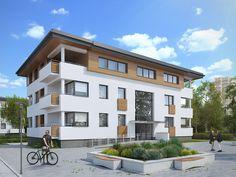 Lazur 2 to budynek wielorodzinny, w którym na trzech kondygnacjach znajduje się 9 mieszkań. W piwnicy znajdują się stanowiska garażowe oraz komórki lokatorskie. Pełna prezentacja projektu znajduje się na stronie: http://www.domywstylu.pl/projekt-domu-lazur_2.php. #projekty, #wielorodzinne, #lazur2, #domywstylu, #mtmstyl, #mieszkania