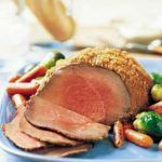Three Mustard Beef Round Tip with Roasted Baby Carrots & Brussel Sprouts -- Dijon, mustard seeds and dry mustard unite for big taste when paired with beef roast and vegetables. Diabetic Meal Plan, Diabetic Recipes, Beef Recipes, Low Carb Recipes, Beef Sirloin Tip Roast, Sirloin Tips, Beef Steak, Roasted Baby Carrots, Meals For Three