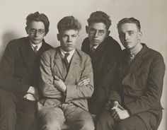 [Part-time students, Cologne (Werkstudenten, Köln)]; August Sander (German, 1876 - 1964); Germany; 1926; Gelatin silver print; 16.8 x 21.6 cm (6 5/8 x 8 1/2 in.); 84.XM.126.128; Copyright: © J. Paul Getty Trust