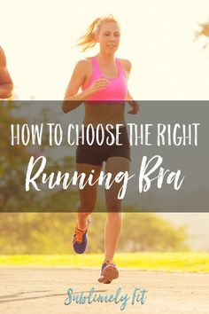 How to choose a running bra: tips for making sure you get a sports bra for running with the right fit and the right amount of support. Benefits Of Running, Best Sports Bras, Running For Beginners, Bra Tips, Health And Fitness Tips, Motivation, Getting Out, Training Tips, Lose Weight