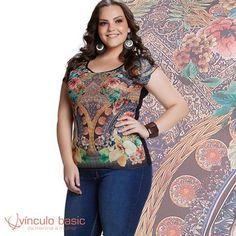 Muito amor por essa blusa com estampa floral maravilinda! Aposte e arrase! 🌸❤  http://www.vinculobasic.com.br/ #vinculobasic #primavera #verao