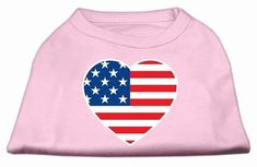 Mirage Pet Products American Flag Heart Screen Print Shirt, Small, Light Pink * Check out the image by visiting the link. #CatApparel