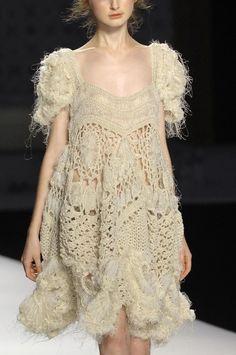 Knit bohemian dress.  #knitting #fashion #trend