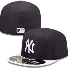 fbfd9a4257acf New York Yankees New Era MLB Diamond Tech 5950 Fitted Hat (Navy White)