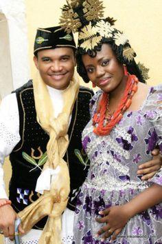 efik bride and groom
