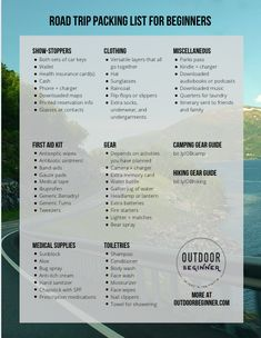 What to bring and how to pack for your very first road trip. Beginner-friendly and simple guide.