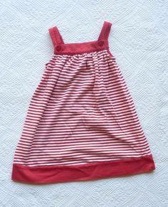 GYMBOREE PREP SCHOOL RED STRIPED DRESS SIZE 5T  #Gymboree #Everyday