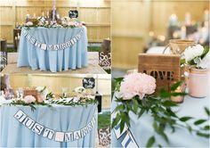 Pale Blue Wedding Reception - Jessica Ryan Photography
