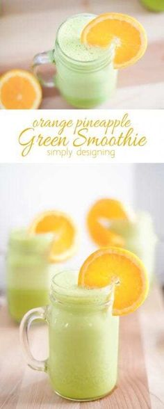 Orange Pineapple Green Smoothie Recipe - this refreshing and healthy smoothie re. CLICK Image for full details Orange Pineapple Green Smoothie Recipe - this refreshing and healthy smoothie recipe is delicious S. Fruit Smoothies, Green Smoothie Recipes, Breakfast Smoothies, Healthy Smoothies, Healthy Drinks, Healthy Food, Drink Recipes, Healthy Eating, Healthy Recipes