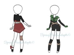 Naruto Outfit Adopts 10 (CLOSED) by SpringPeachAdopts.deviantart.com on @DeviantArt