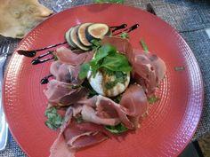 Salade oeuf poché, jambon italien
