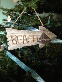 Beach sign ornament