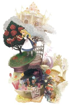 dwarfwoodland: Alice in wonderland ありんこ