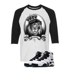 Nike Air Max 2 Uptempo 94 'White & Black' Baseball T (A KING LIFE) Nike Kyrie 3, Nike Air Max 2, Baseball T, Matching Shirts, Street Wear, Marble, Mens Tops, T Shirt, Life