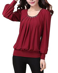 #StarReview C2U Women Scoop Neck Pleated Front Long Sleeve Fitted Blo... https://www.amazon.com/dp/B01FM3G5GC/ref=cm_sw_r_pi_dp_GMfBxb5BW0PJC