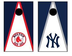 Boston Red Sox and New York Yankees Rivalry Cornhole Boards