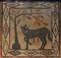 """""""She-wolf with Romulus and Remus"""" by Unknown Artist via DailyArt app, your da. Ancient Myths, Ancient Artifacts, Ancient History, Wolf Mythology, Egyptian Mythology, Egyptian Goddess, Romulus And Remus, Leeds City, History Encyclopedia"""