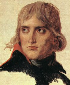 "napoleon bonaparte by jacques-louis david (""le général bonaparte""), 1798 Highly intense and good-looking in the early days."