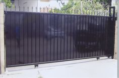 Sam's Fencing in San Diego gives home and business owners peace of mind with quality installation of automatic gates, commercial access systems and more. Metal Driveway Gates, Driveway Entrance, Front Gates, Fence Gate, Entrance Gates, Gate 2, Fences, House Gate Design, Bungalow House Design