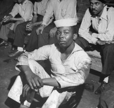 Gordon Coster—Time & Life Pictures/Getty ImagesNot published in LIFE. An African American sailor rounded up along with many other black men following wartime race riots in Detroit, June 1943.