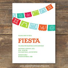 Fiesta Party Invitation - DIY Printable - Fiesta via Etsy