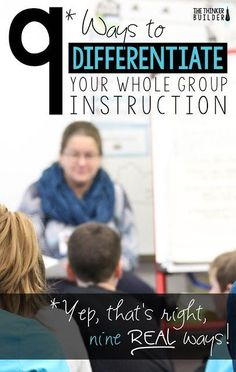 Every educator should work this way. Here are 9 ways you can differentiate your whole group instruction. These differentiation ideas will really help you meet each student's needs during the lessons you already teach. Instructional Coaching, Instructional Strategies, Teaching Strategies, Teaching Tips, Teaching Reading, Instructional Technology, Differentiation In The Classroom, Differentiation Strategies, Differentiated Instruction Strategies