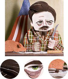 Ron Swanson! by Erin Maala, via Behance