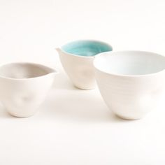 Linda Bloomfield, dimpled pouring bowls