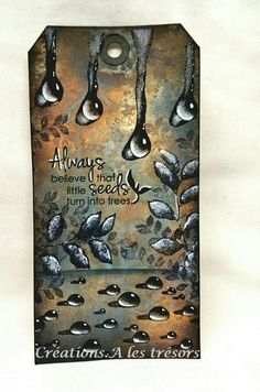 By Carole using Designs by Ryn: Trickling Water Set and Sideways Droplets stamps