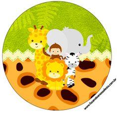 "Imprimés Thème ""Safari"" : http://fazendoanossafesta.com.br/2014/10/safari-kit-festa-infantil.html/"