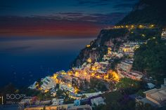 Amalfi Coast Sunset by amhill from http://500px.com/photo/197772569 - . More on dokonow.com.
