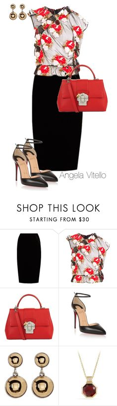 """Untitled #937"" by angela-vitello on Polyvore featuring Jupe By Jackie, Simone Rocha, Dolce&Gabbana, Christian Louboutin, Kenneth Cole and David Yurman"