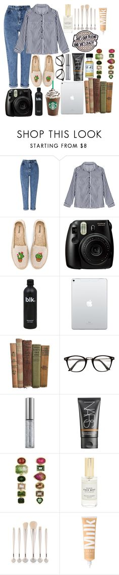 """""""Polaroid baby"""" by piperizabella ❤ liked on Polyvore featuring Miss Selfridge, Soludos, Fujifilm, Urban Decay, NARS Cosmetics and Mullein & Sparrow"""