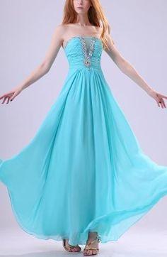 Chiffon Strapless Elegant Evening Gowns - Order Link: http://www.theweddingdresses.com/chiffon-strapless-elegant-evening-gowns-twdn7064.html - Embellishments: Rhinestone , Beaded , Pleated , Ruching; Length: Floor Length; Fabric: Chiffon; Waist: Natural - Price: 126.99USD